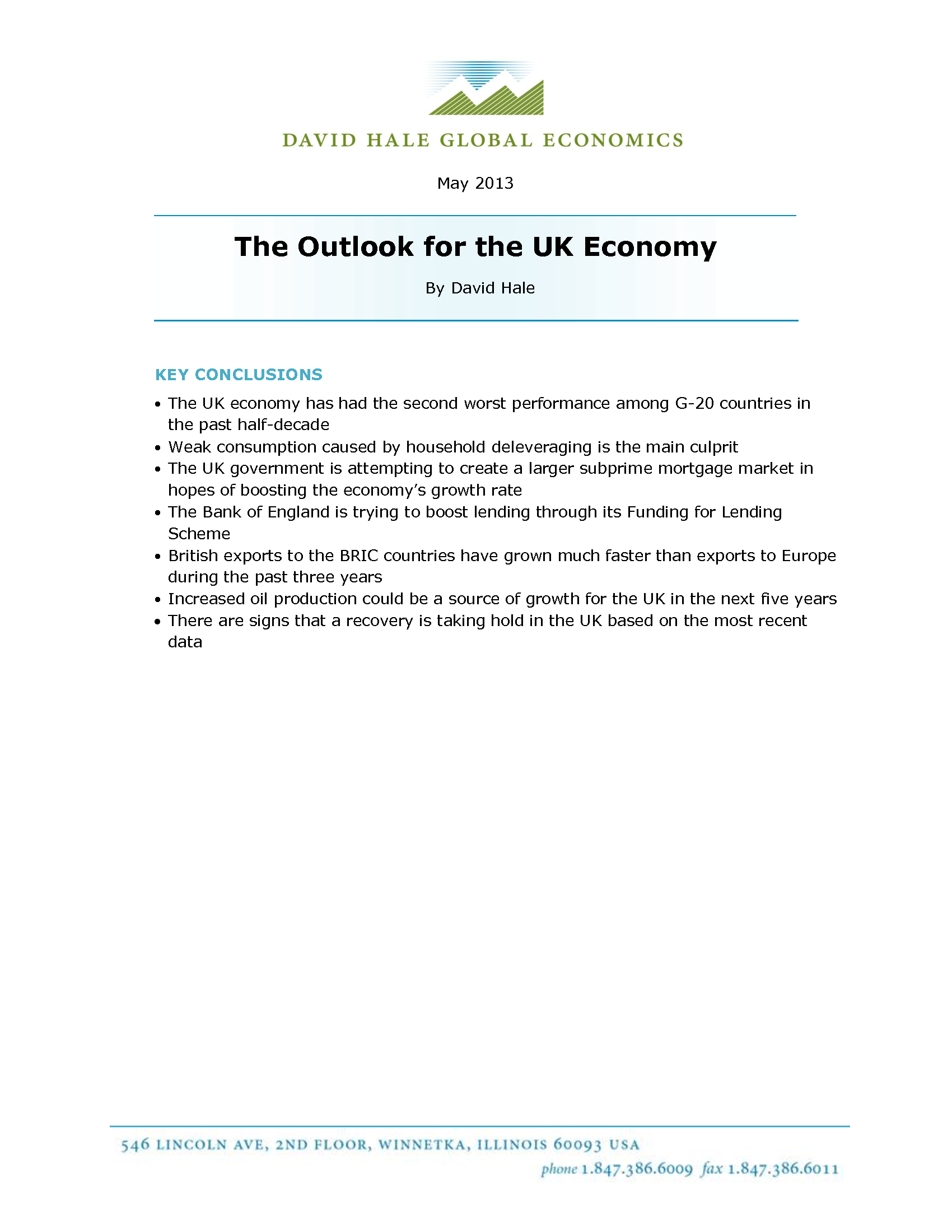 The Outlook for the UK Economy - Thumb 1